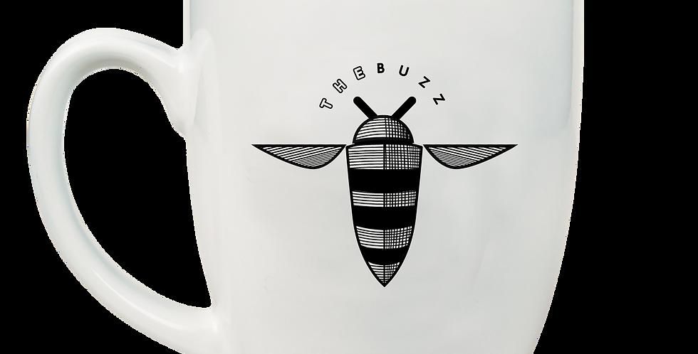 BUZZ/WAYMAKERS Bistro Mugs Black Engraved 16oz LMG67