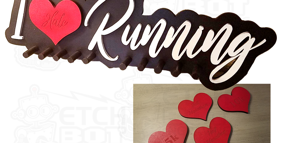 I Love(hate) Running Custom Decor Sign