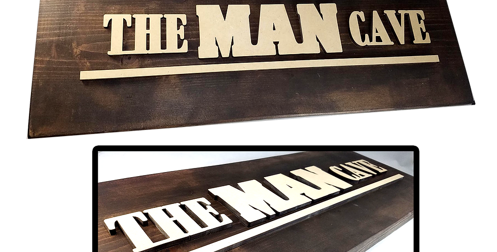 "Wood Decor ""Man Cave""sign"