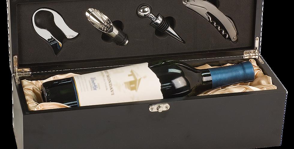 Matte Black Finish Wine Gift Set WBX21