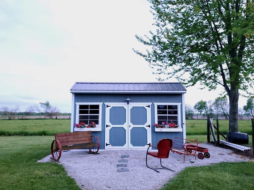 shed in backyard