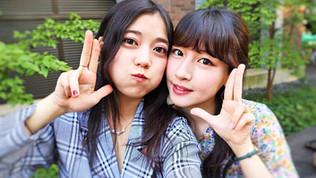 Kakak adik cantik, Saaya dan Akiho semangat main ke Ennichisai