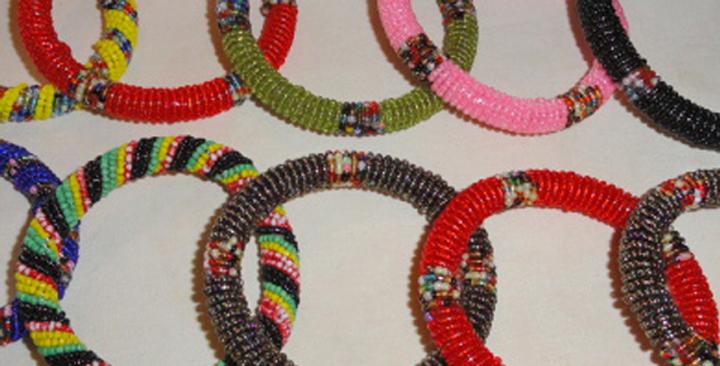 12 in a set_Maasai Beaded Bracelets