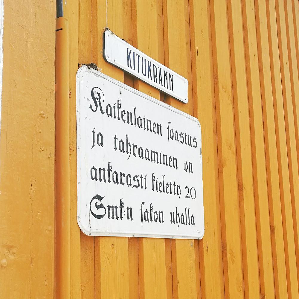 Kitukränn on Suomen kapein katu.