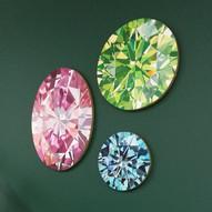 Three gemstone portraits