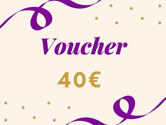 Voucher 40€