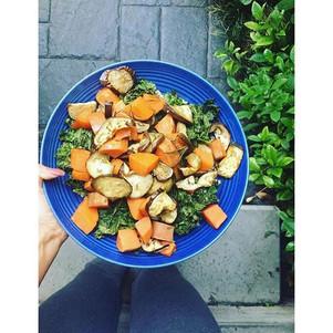 SWEET POTATO K A L E SALAD + the health benefits of sweet potato