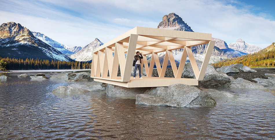 Viewing platform (cross laminated timber)