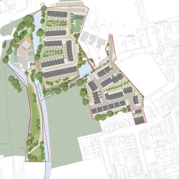 Wandles Estates, Hackbridge. Ward Homes