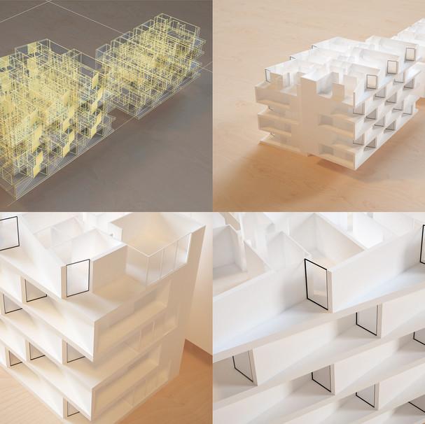 Facade studies - New Quay apartments