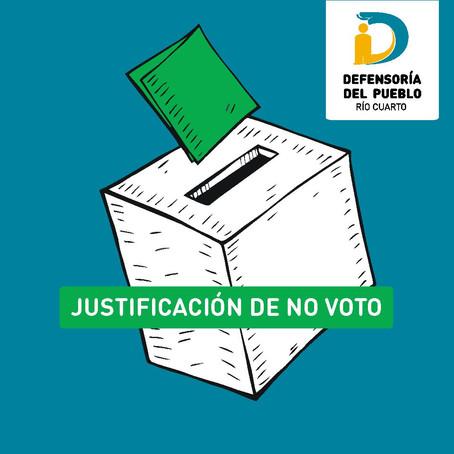JUSTIFICACIÓN DE NO VOTO