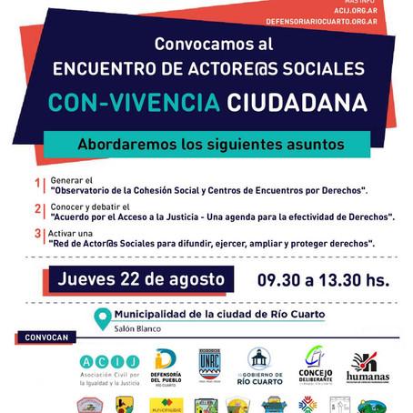 ENCUENTRO DE ACTORES SOCIALES CON-VIVENCIA CIUDADANA