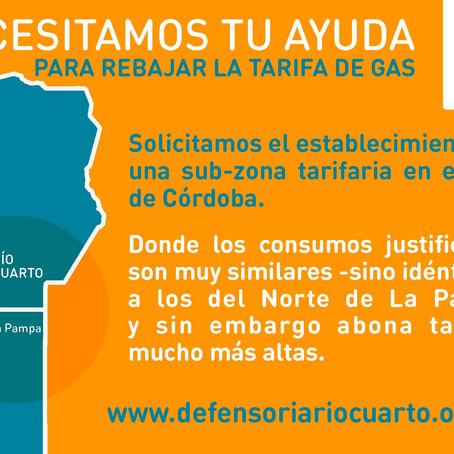 PROYECTO DE REZONIFICACIÓN DE TARIFAS DE GAS: UNA FIRMA PARA APOYAR EL PROYECTO
