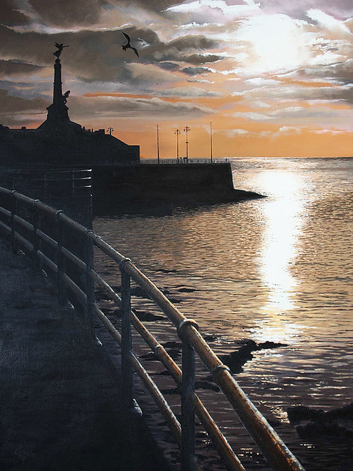 Aberystwyth promenade and sunset