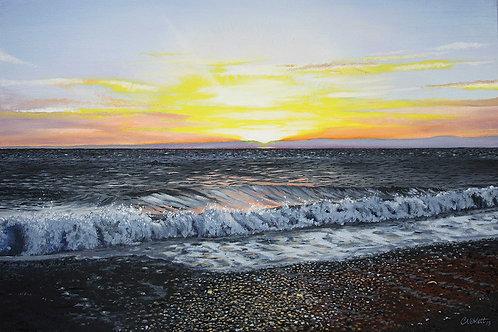 Aberystwyth sunset and surf