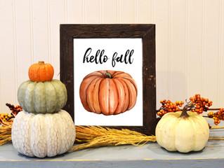 Fall Printable Decor!