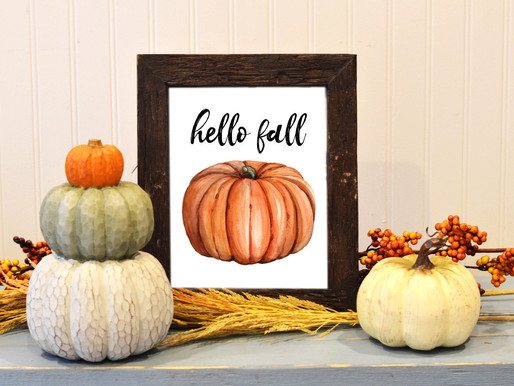 Fall Printable Decor!