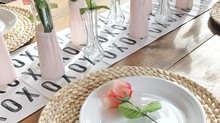 Valentines Table Decor using a Printable & Dollar Tree Items