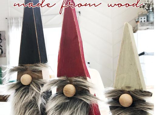 DIY Wood Gnomes