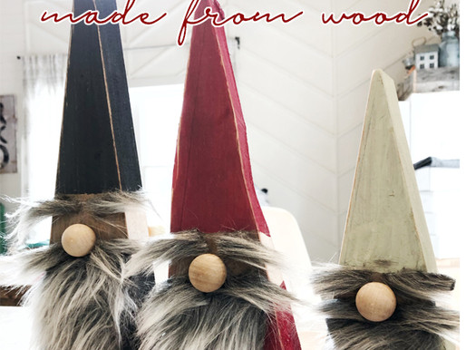 DIY Wood Gnomes