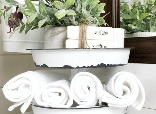 DIY Tiered Tray using Dollar Tree items