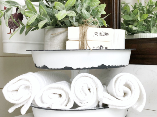 DIY Tiered Tray using Dollar Tree items