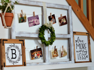 Farmhouse Style Picture Hanging Frame DIY