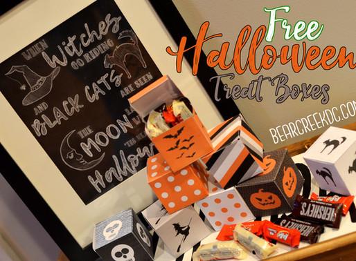 Free Halloween Treat Boxes