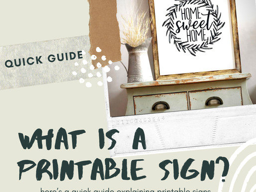 What is a Printable Sign?