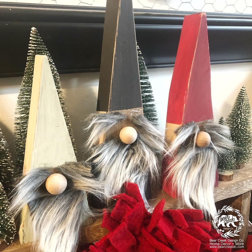DIY Wooden Christmas Gnomes