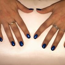 Remplissage gel de couleur avec french bleu