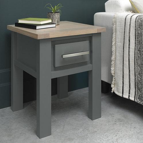 Oakham Dark Grey & Scandi Oak Lamp Table