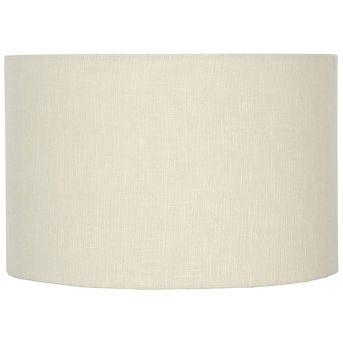 40cm Cream Self Lined Linen Drum Shade