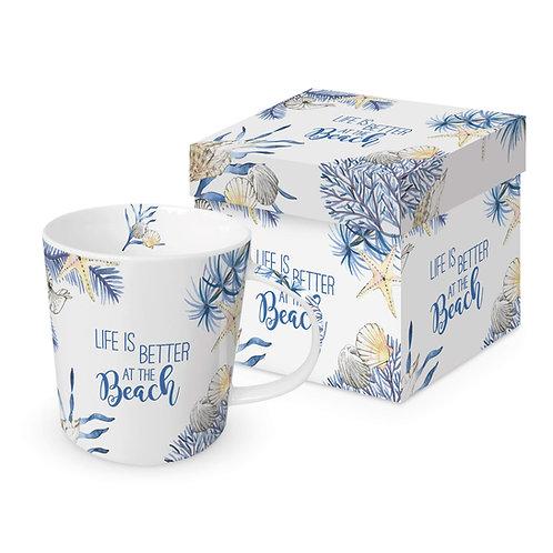 Ocean Life is better Mug in gift box 350ml New Bone China