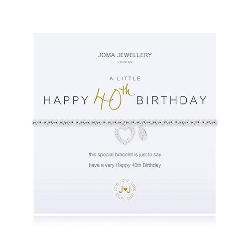 'A Little Happy 40th Birthday' Bracelet