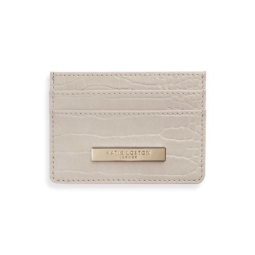 Katie Loxton Celine Croc Card Holder Oyster