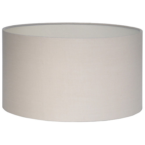 30cm Taupe Poly Cotton Cylinder Drum Shade