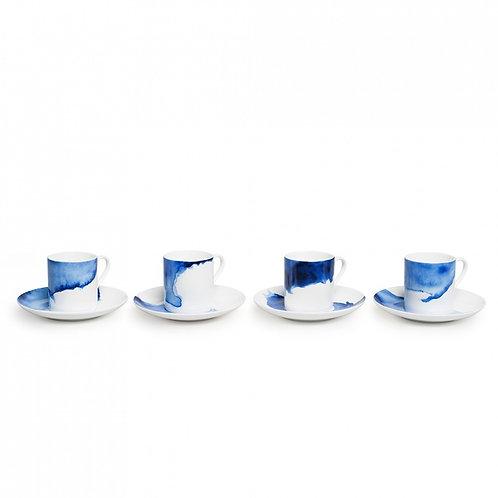 Rick Stein Espresso Cup set of 4 Harlyn Bay, Treyarnon Bay, Constantine Bay..