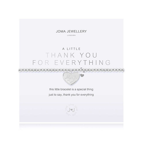 A LITTLE | THANK YOU FOR EVERYTHING SILVER BRACELET