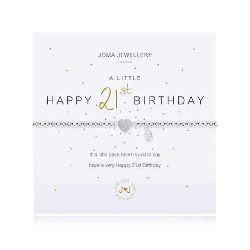 'A Little Happy 21st Birthday' Bracelet