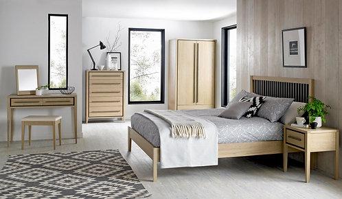 Rimini Aged and Weathered Oak Slatted Bedstead