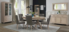Bordeaux Chalk Oak 6-8 Dining Table sand