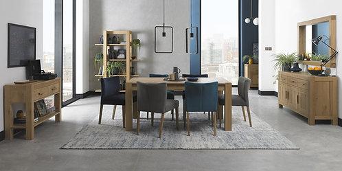 Turin Light Oak Medium End Extending Dining Table