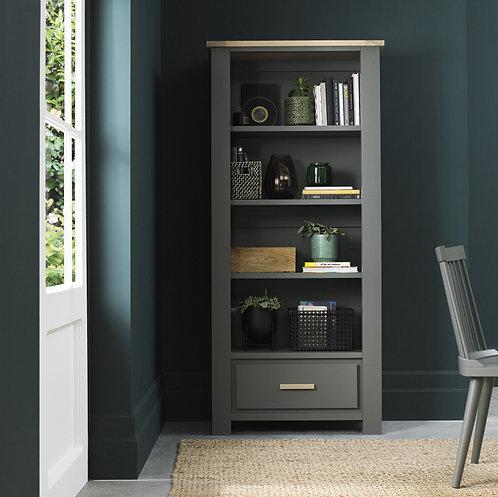 Oakham Dark Grey & Scandi Oak Bookcase
