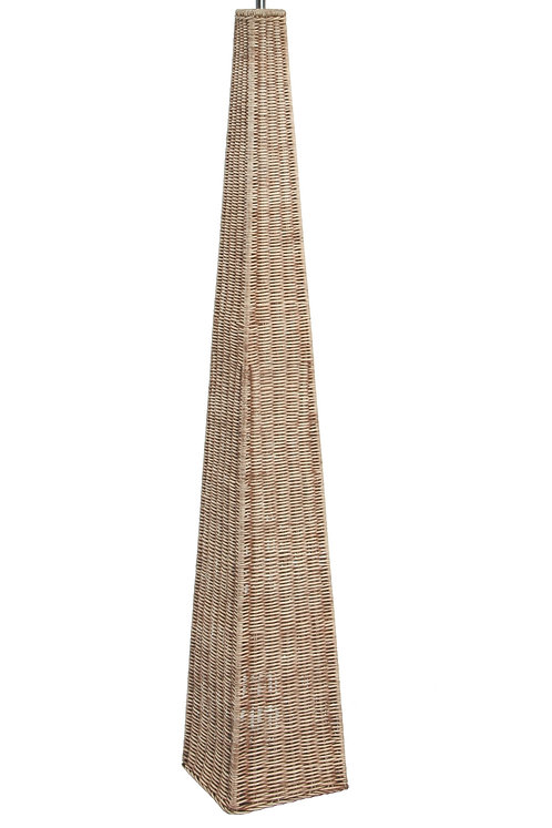 Rattan Pyramid Floor Lamp Base Only pacific lifestyle sand cornwall
