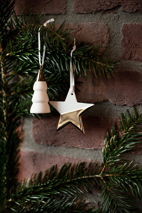 Porcelain Hanging Tree Gold by Rader Design