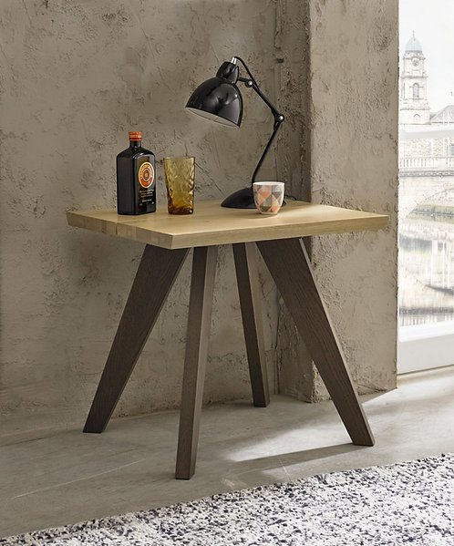 Cadell Aged and Weathered Oak Lamp Table