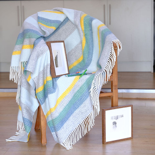 St Ives Beach Pure New Wool 'Carbis Bay' Blanket
