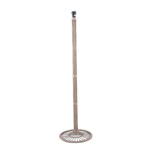 Grey Wash Rattan Candlestick Floor Lamp