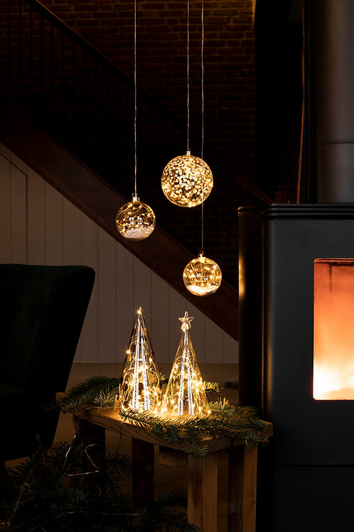 LED lightning Bauble Merry Christmas Small by Rader Design